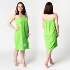 Килт жен КЖ-2019, 80х150+-2 зелень, вышивка Снеговик, махра 300г/м хл100%