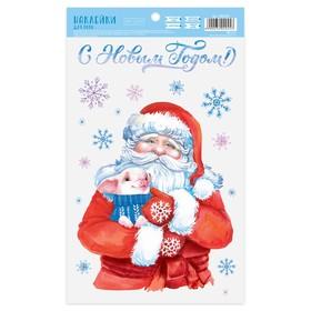 Наклейка для окон «Дед Мороз», 20 х 34,5 см Ош