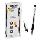 Ручка гелевая MAZARi DENISE, узел 0.5 мм, чернила черные, пулевидный пишущий узел, с резиновым грипом