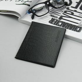 Обложка д/паспорта 9,5*0,3*13,8 ПСП Престиж, тисн.конгрев, черный Ош