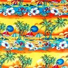 Ткань плательная, штапель набивной, ширина 150 см, жёлтый