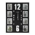 """Часы настенные """"Вертикаль"""", чёрные + 8 фоторамок 8 × 10 см"""