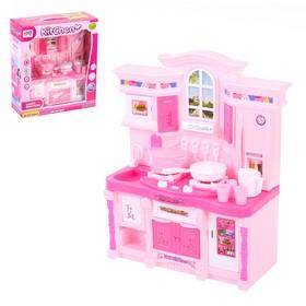 Игровой набор 'Стильная кухня', розовая, световые и звуковые эффекты Ош