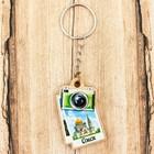 Брелок деревянный в форме фотоаппарата «Омск. Успенский собор», 3.3 x 5 см