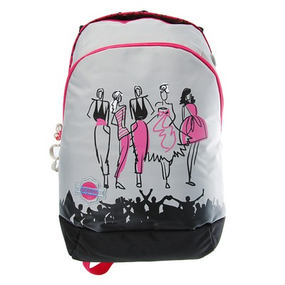 Рюкзак молодежный эргоном.спинка Across GL3 44*28*13 дев серый/розовый ACR18-GL3-1