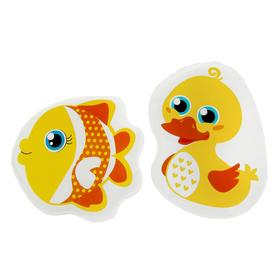 Набор игрушек для ванны с пищалкой «Уточка и рыбка», 2 шт.