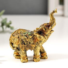 Сувенир полистоун 'Африканский слон в мозаичной попоне' МИКС 10х9х4 см Ош