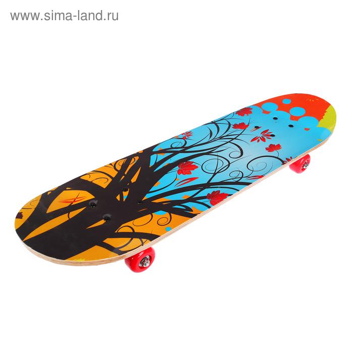 Скейтборд HB-209, колеса PVC d= 50 мм, цвета МИКС