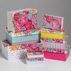 Набор коробок 10в1 «Цветы», прямоугольные 32,5 х 20 х 12,5‒12 х 7 х 4 см