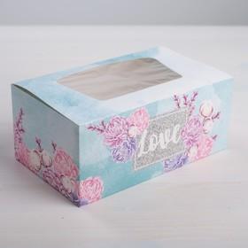 Коробка для кондитерских изделий Love , 18х7,5х10 см Ош