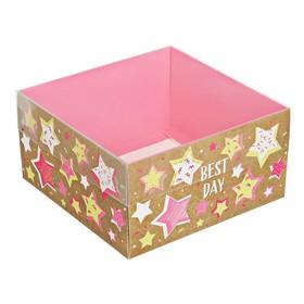 Коробка для кондитерских изделий «Лучший день» 12 х6 х11.5 см Ош