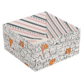 Коробка для кондитерских изделий «Котики» 12 х6 х11.5 см Ош
