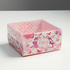 Коробка для кондитерских изделий «Приятных моментов» 12 х6 х11.5 см Ош