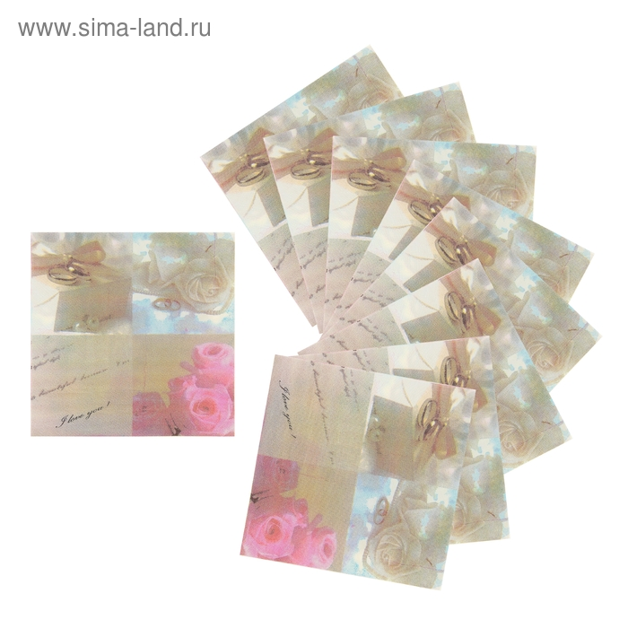 """Салфетки бумажные """"Свадьба"""""""