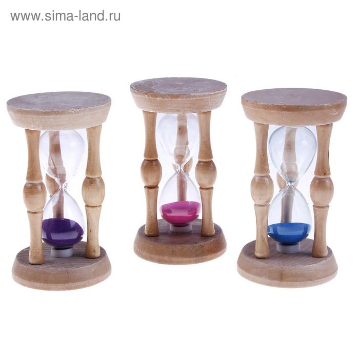Часы песочные круглые, рамка три колонны, песок цвета микс