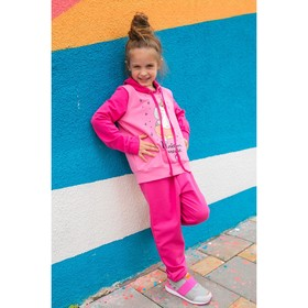 Спортивный костюм для девочки MINAKU 'Единороги', рост 134-140 см, цвет розовый Ош