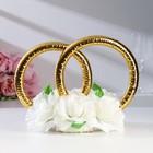 Кольца с цветами, малые, айвори