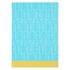 """Колледж-тетрадь А4, 120 листов клетка Calligrata """"Голубой орнамент"""", твёрдая обложка"""