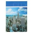 """Колледж-тетрадь А4, 120 листов клетка Calligrata """"Город"""", твёрдая обложка"""