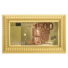 """Купюра 500 Евро в рамке классической """"Золотая орда"""""""