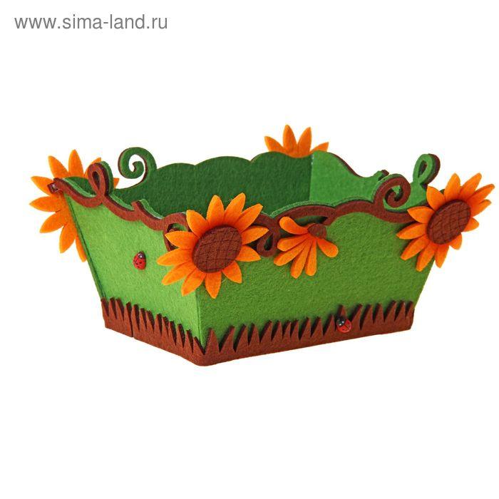 """Кашпо """"Осенние цветы"""""""