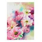 """Колледж-тетрадь А4, 80 листов клетка Calligrata """"Цветы"""", твердая обложка"""