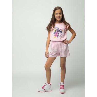 Шорты для девочки, рост 98-104 см (28), цвет розовый