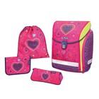 Ранец на замке Herlitz MIDI NEW PLUS 38*32*26 дев Pink Hearts пенал 16предм+космет+мешок