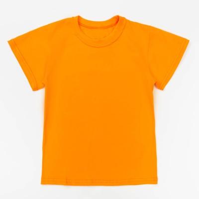 Футболка детская однотонная, рост 98, цвет оранжевый Ш-006