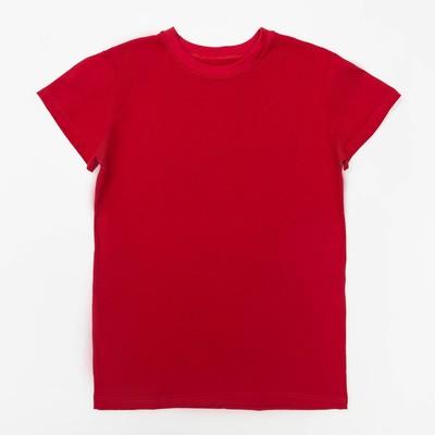 Футболка детская однотонная, рост 98, цвет красный Ш-006