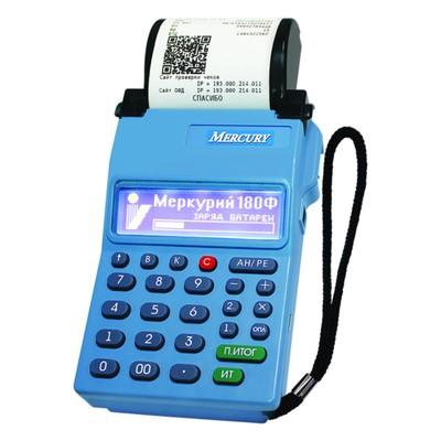 Онлайн-касса Меркурий-180Ф (GSM/WI-FI модули) с ФН13 , цвет синий