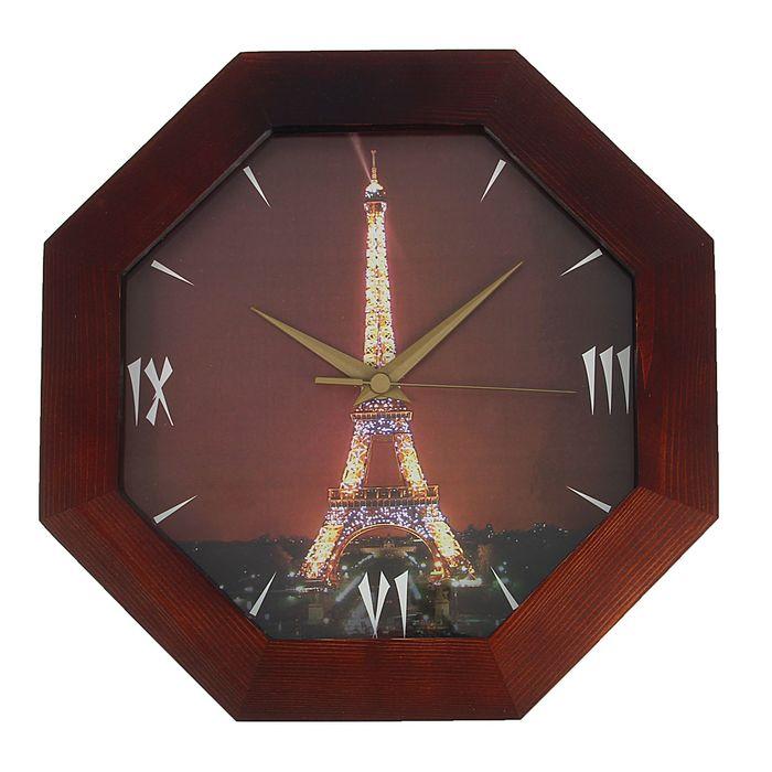 """Часы настенные """"Эйфелева Башня"""", деревянные"""