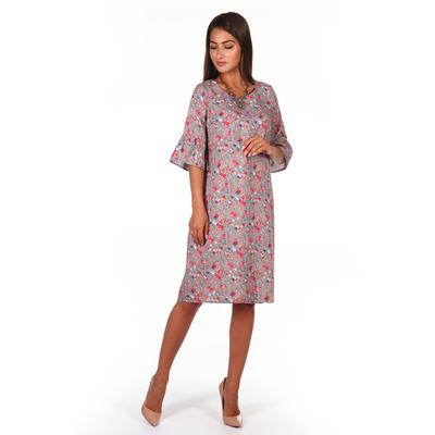 Платье женское Рика цвет серый, р-р 46