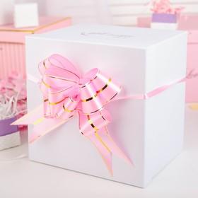 Бант-бабочка №4.5, розовый Ош