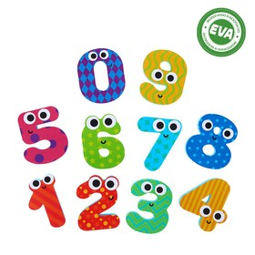 Набор игрушек для ванны «Цифры»: наклейки из EVA, 10 шт.