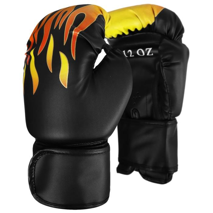 Перчатки боксерские, 12 унций, цвета МИКС