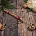 """Музыкальный инструмент """"Свисток из бамбука с цветком"""" 25х1,5х1,5 см"""