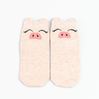 Носки детские, цвет розовый меланж, размер 12