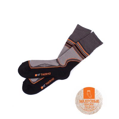 Носки мужские термо 620T-007 (8620T) цвет тёмно-серый/оранжевый, р-р 25