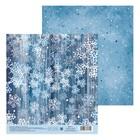 Бумага для скрапбукинга «Снегопад», 15,5 × 17 см, 180 г/м
