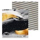 Бумага для скрапбукинга «Новогодняя ночь», 15,5 × 17 см, 180 г/м
