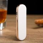 Зажигалка электронная «Слайд», спираль, USB в комп-те, белая, 0.7х2.2х8 см