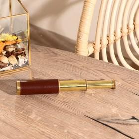 Подзорная труба с 4-х кратным увеличением, в деревянной шкатулке, сувенирная