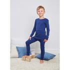 Комплект для мальчиков(джемпер,кальсоны), рост 140 см, цвет синий