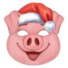 """Маска карнавальная """"Свинюшка рождественская"""" Символ года 2019"""