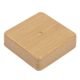 Коробка распределительная T-plast, 80x80x20 мм, сосна, 50.12.001.0002, Ош