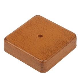 Коробка распределительная T-plast, 50х50х20 мм, светлый орех, 50.12.002.0004, Ош