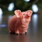 """Мыло фигурное """"Свинка стоит"""" розовая75гр"""