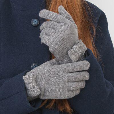 """Перчатки женские """"Бант"""", размер 18, цвет серебро"""
