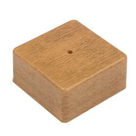 Коробка распределительная T-plast, 75х75х20 мм, светлый орех, 50.12.003.0004, Ош